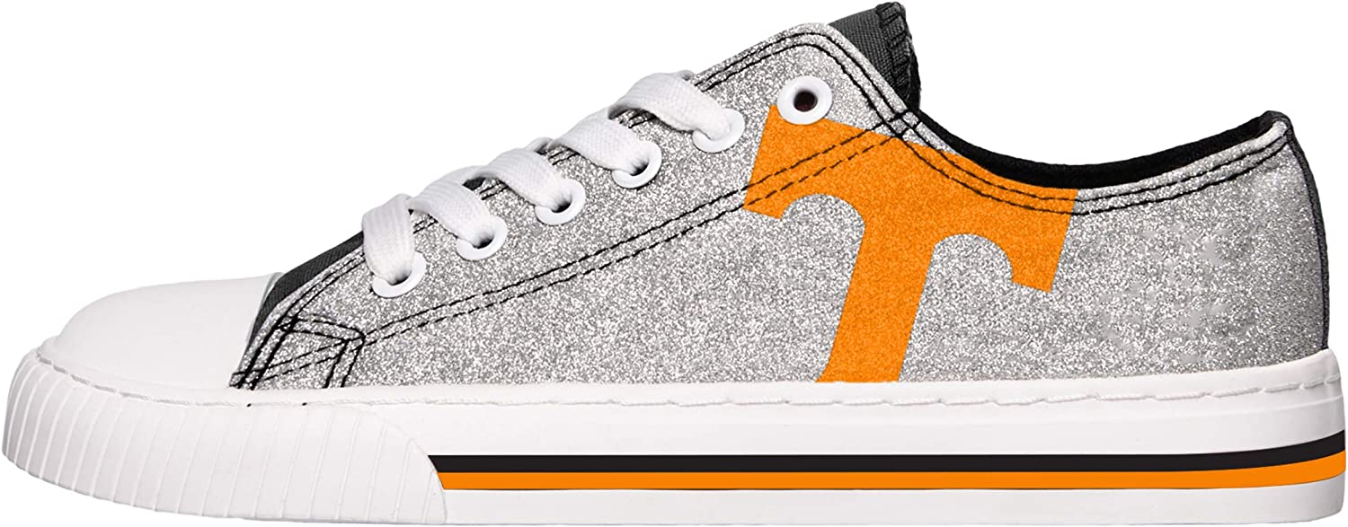 FOCO NCAA Womens Glitter Low Top Canvas Shoes