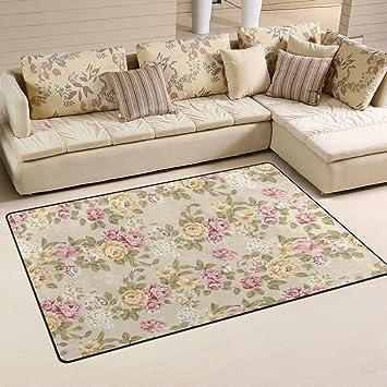 Amazon.de: Use7 Rutschfeste Fußmatte mit Blumenmuster, Shabby-Chic ...