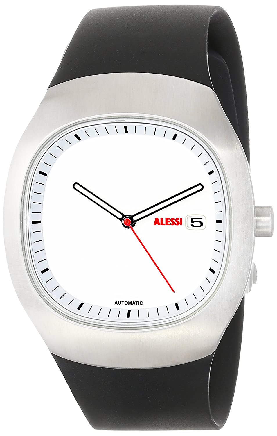 amazoncom alessi men's al ray stainless steel automatic  - amazoncom alessi men's al ray stainless steel automatic watchwatches