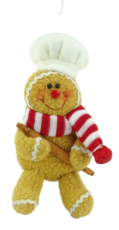 Christmas Concepts/® Ensemble de 4 plumes en pain de gingembre 6 po D/écoration darbre de No/ël pendentif /à lhomme D/écorations de No/ël
