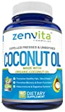 Organic Coconut Oil - 180 Softgels, 1000 mg Per