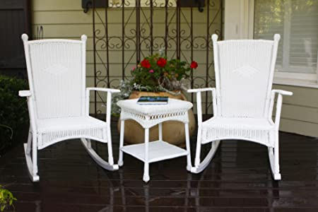 Tortuga Portside 3 Piece Patio Bistro Set in White