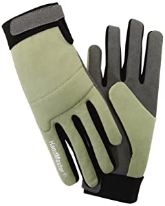 Magid G251VT Simply Pastel Synthetic Leather Heavy Duty Gardening Glove for Women, Medium