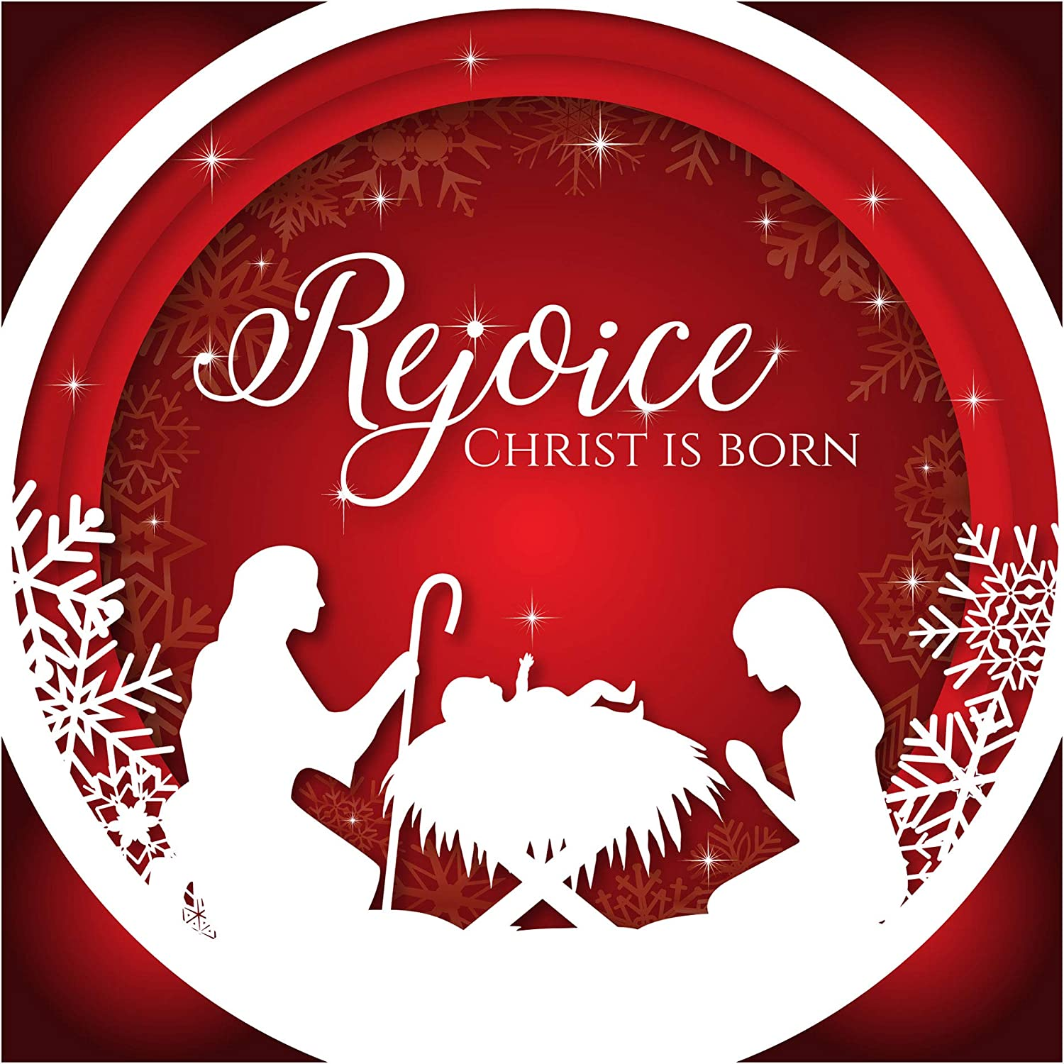 Christian Christmas Pictures 2020 Christian Christmas Cards   Rejoice, Christ is Born, Pack of 10