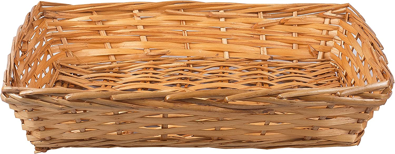 5 x Honey Natural Wicker Bread Basket Storage Hamper DisplayTray