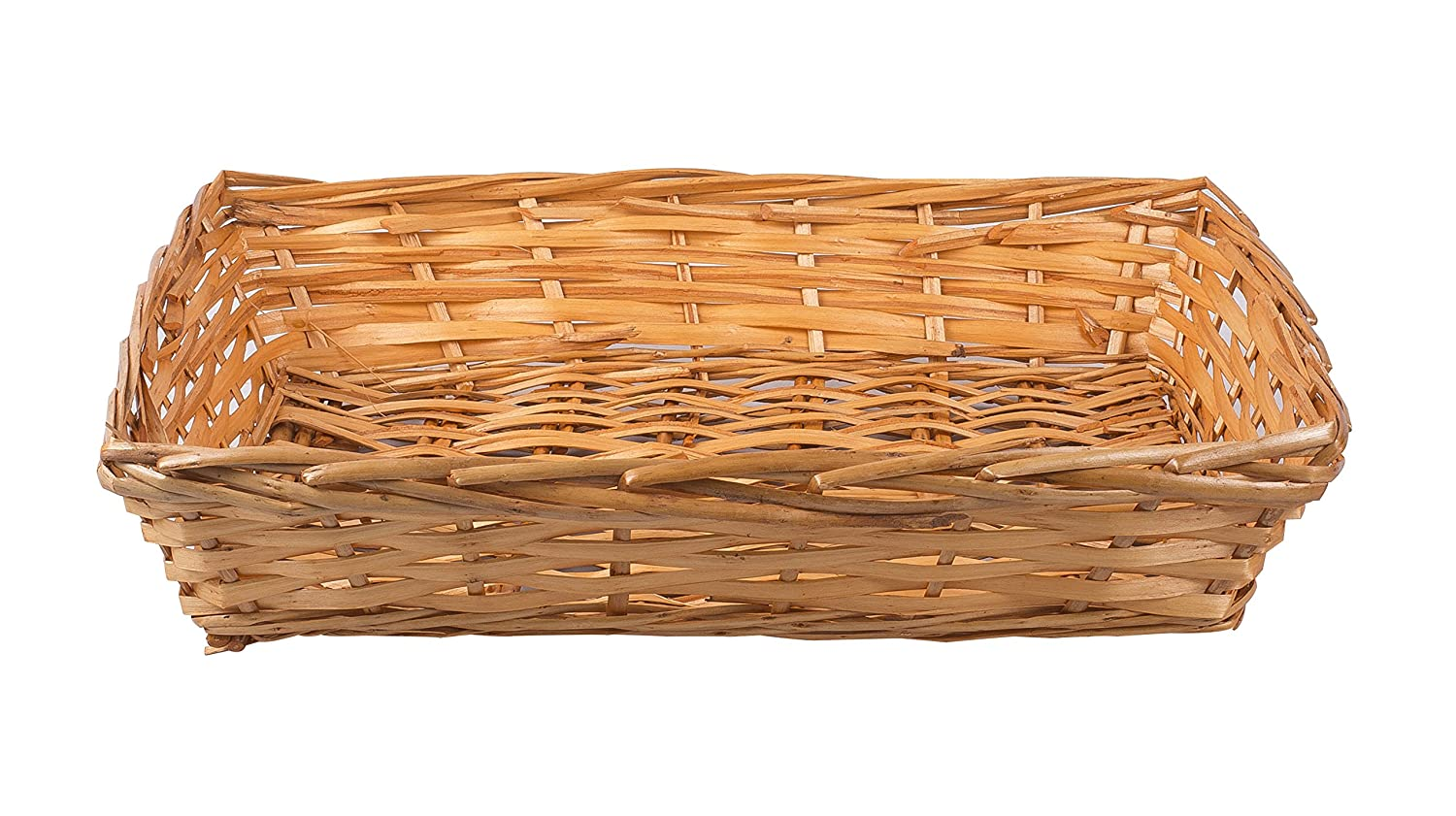 5 x Large Honey Natural Wicker Bread Basket Storage Hamper Display Tray Basic House Ltd