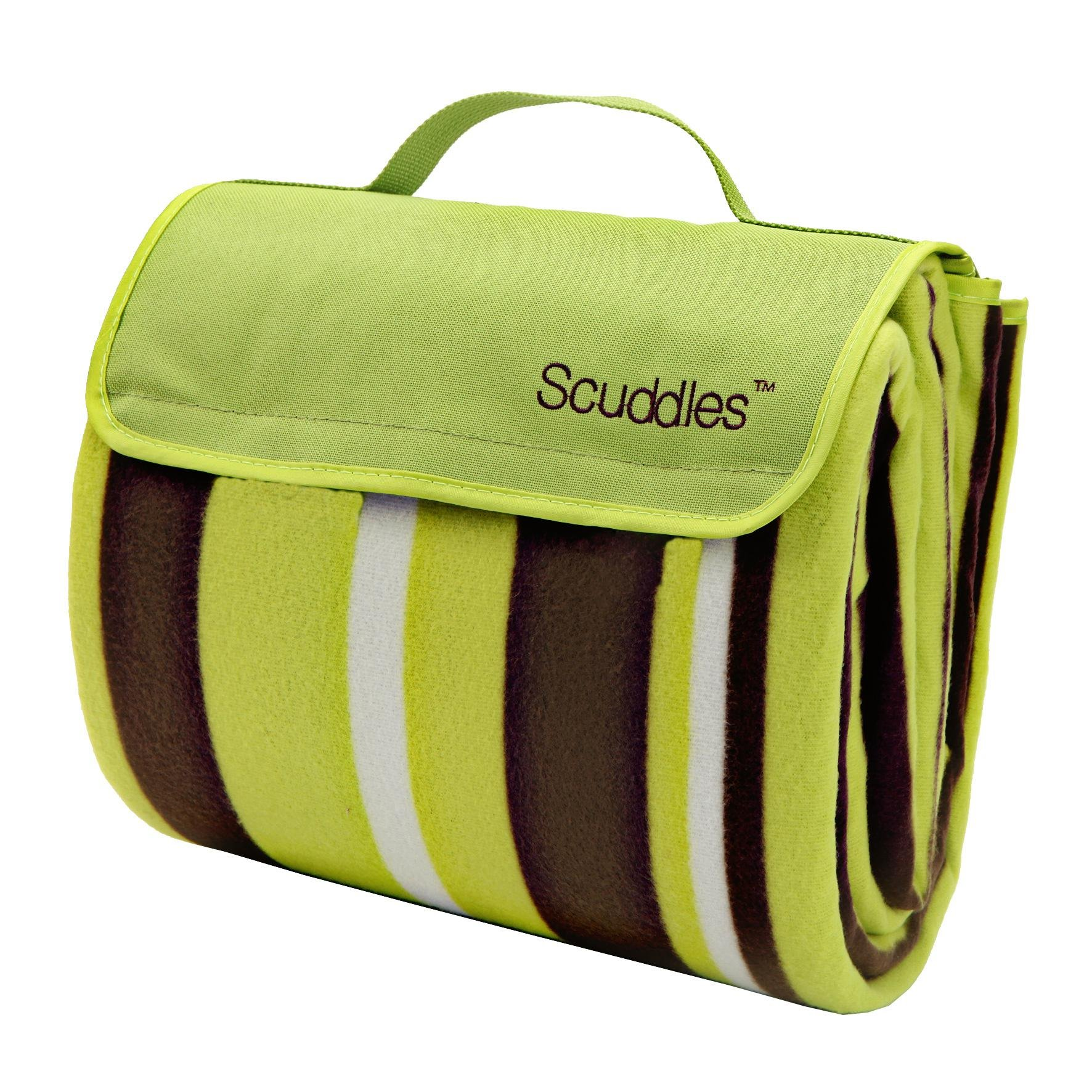 Scuddles Extra Large 60 X 79 INCH Picnic & Outdoor Blanket Dual Layers For Outdoor Water-Resistant Handy Mat Tote Spring Summer Striped Great for the Beach,Camping on Grass Waterproof by scuddles