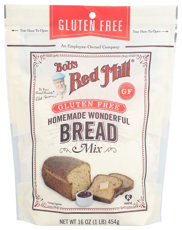 Bob S Red Mill Gluten Free Homemade Wonderful Bread Mix 16 Oz Grocery Gourmet Food