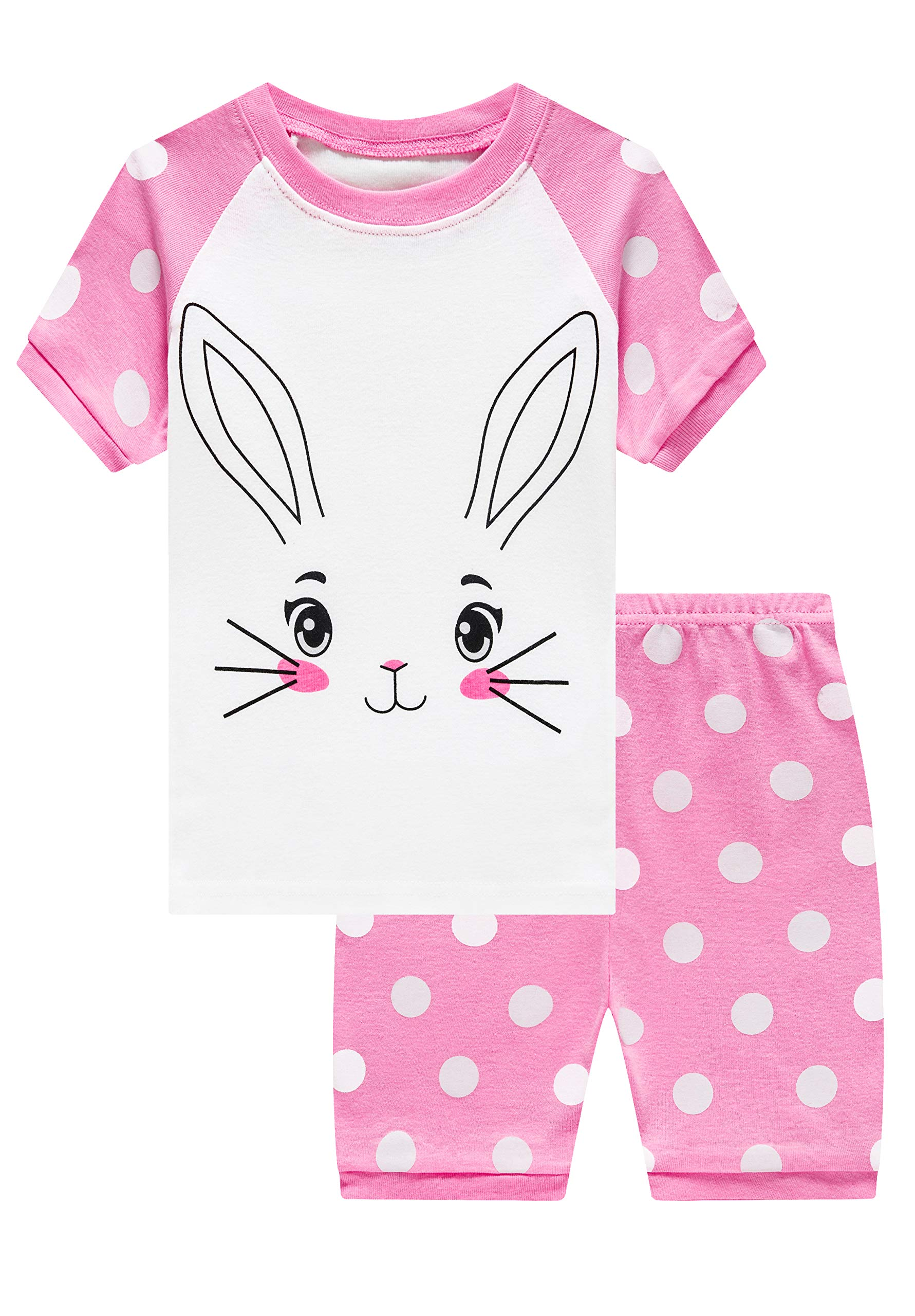 Pajamas Set for Girls Short Sleeve Sleepwears Kids Short Pjs Sets Baby Summer 100/% Cotton Pj