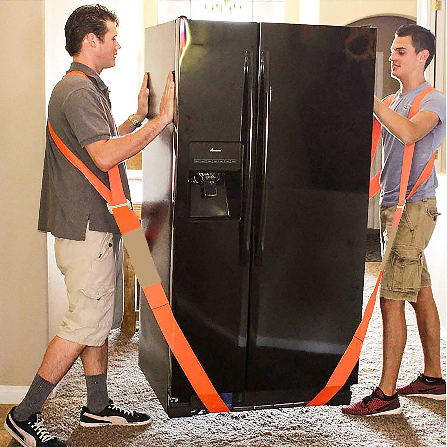 Appliances ACCOCO Moving and Lifting Straps with Handy Storage Bag,2 Person Shoulder Dolly Moving Straps Carrying Belt Max Load 650 Pound Easy Carry Furniture Mattresses or Any Heavy Object