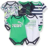 PUMA Baby Boys Five Pack Bodysuit Set