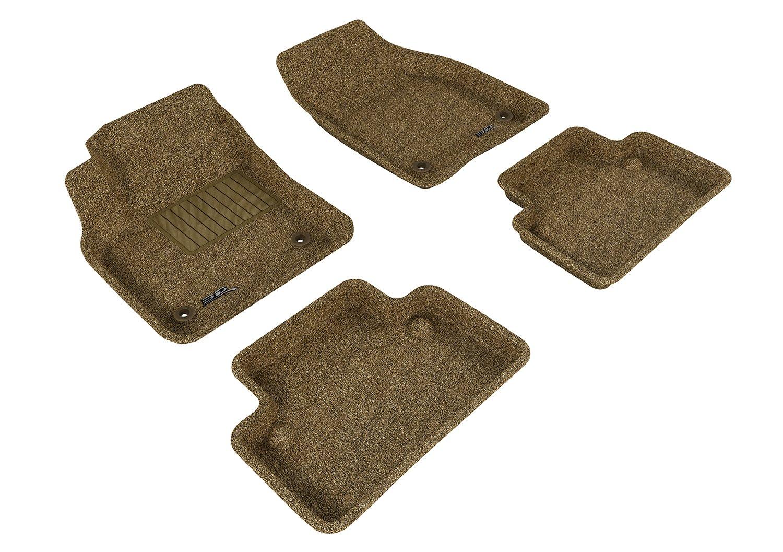L1VV00312209 Classic Carpet 3D MAXpider Front Row Custom Fit Floor Mat for Select Volvo S40 Models Black