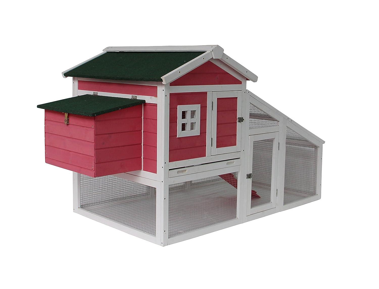 amazon com mcombo 0326p deluxe wooden coop backyard nest box pet