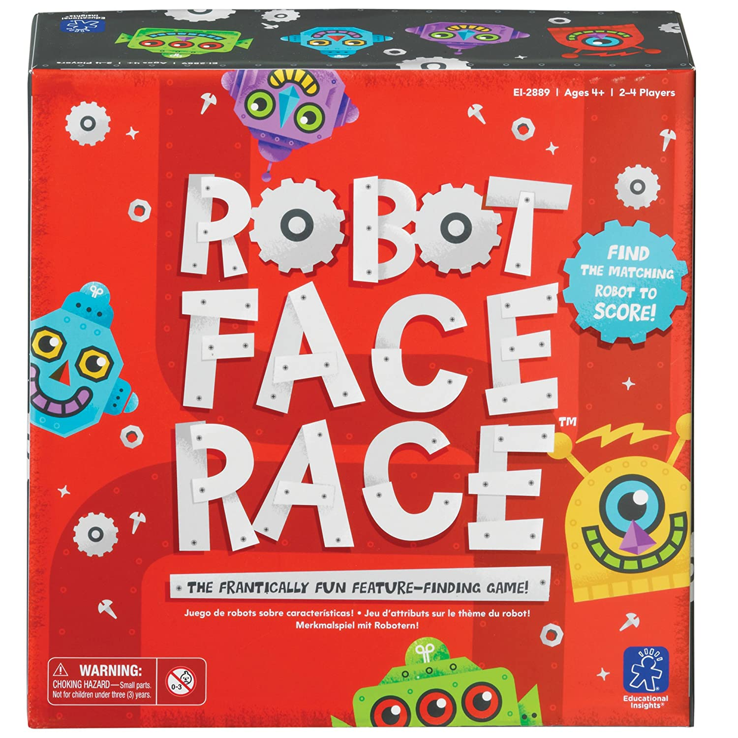 this is an image of a Robot Face Race game set in a red box