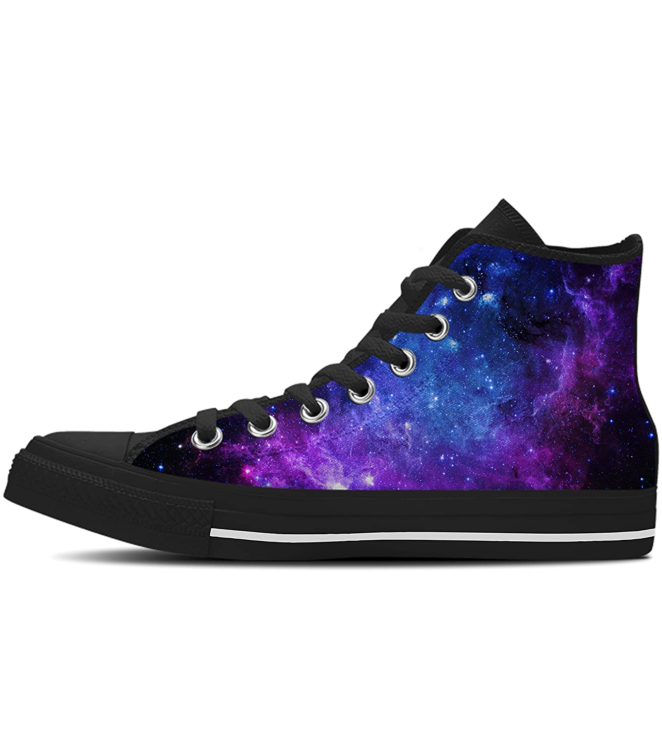 8ed90ddb72728 Amazon.com | Gnarly Tees Women's Galaxy Shoes High Top | Walking