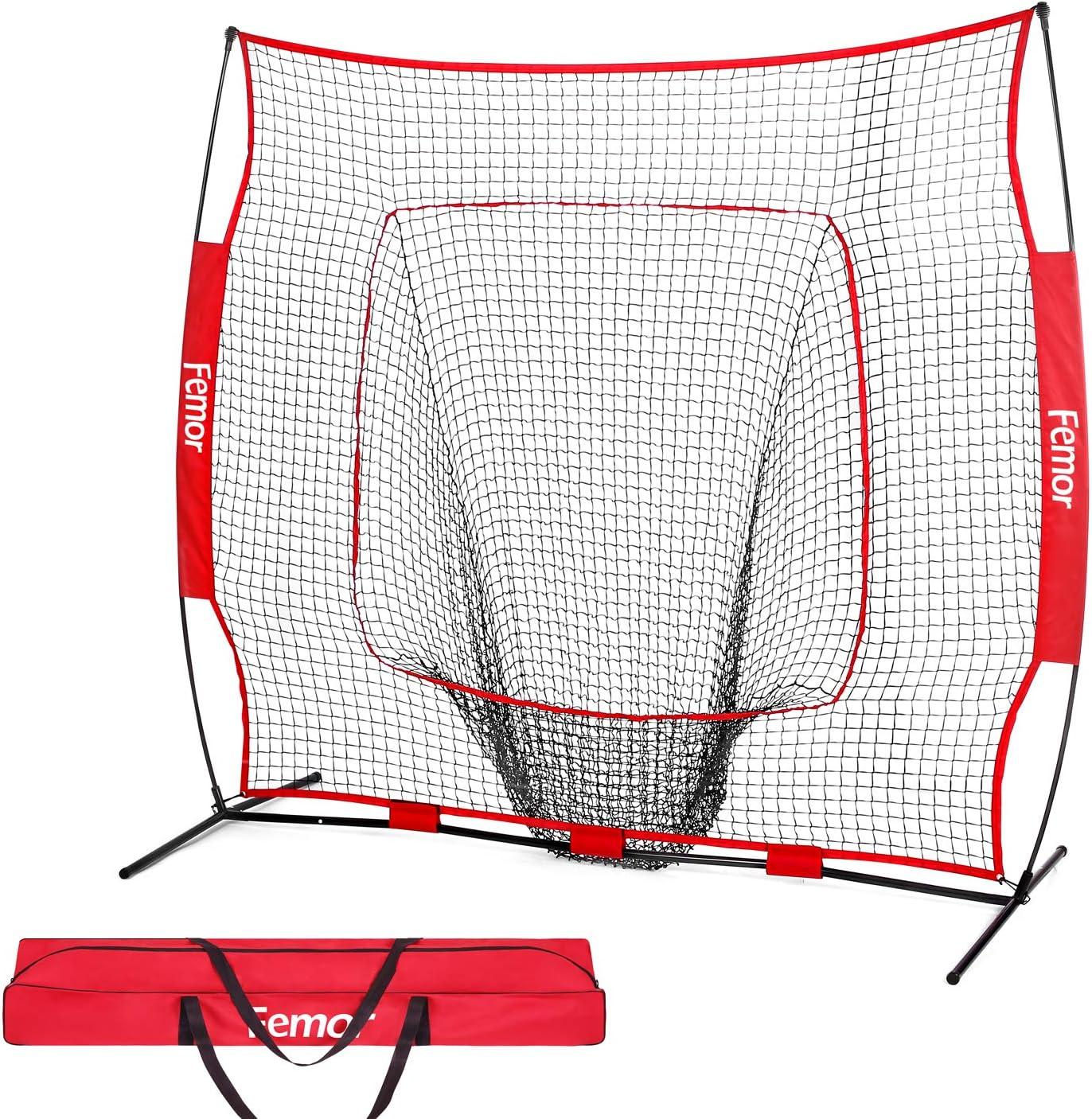 Alomejor Baseball Training Net Portable Baseball Softball Practice Net for Practice Hitting Pitching Batting Fielding Backstop