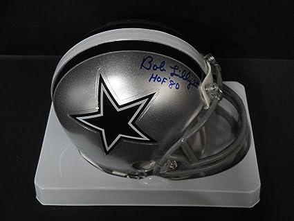 Bob Lilly Hand Signed Autographed Mini Helmet Dallas Cowboys HOF 80 Black  Helmet 46d58004e