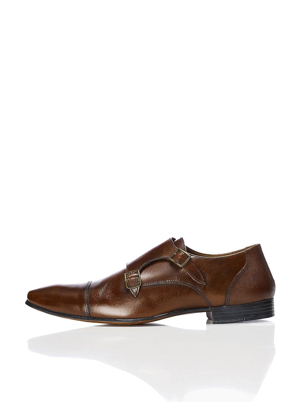 Find Zapatos Estilo Monje de Doble Hebilla para Hombre 46 EU|Marrón (Brown)