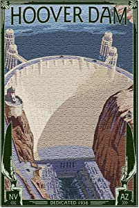 Hoover Dam Aerial (Premium 500 Piece Jigsaw Puzzle for Adults, 13x19, Made in USA!)