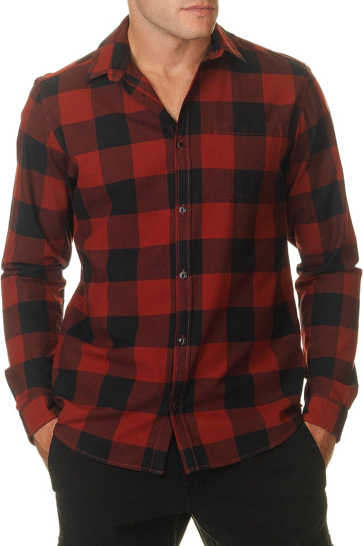 Jack & Jones Mens Frisk Mens Red Plaid Shirt In Size Xl Plaid ...