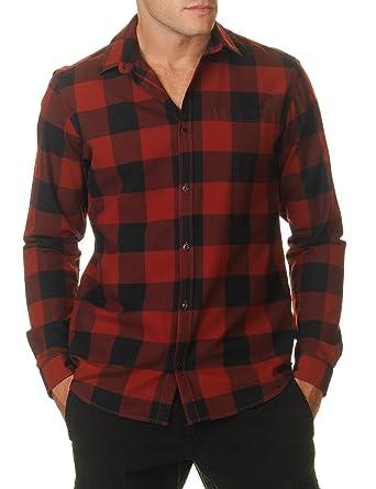 JACK JONES - Herren slim fit kariertes hemd 12109322 frisk l rot