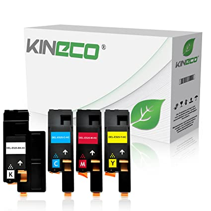 kineco de 4 Pack Toner compatible con Dell e525 W Impresora ...