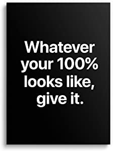 Large Motivational Poster with Sleek Design - (18''x24'' Inches) Inspirational Wall Art Decor for Home, Office, Living Room, Gym, Classroom, Bedroom, Team, Entrepreneur, Teamwork - Premium Prints & Gift - UNFRAMED