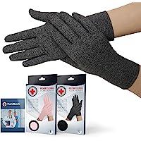 Medisch ontwikkelde artritis handschoenen met volledige vingers / compressiehandschoenen + Dokter's handboek…