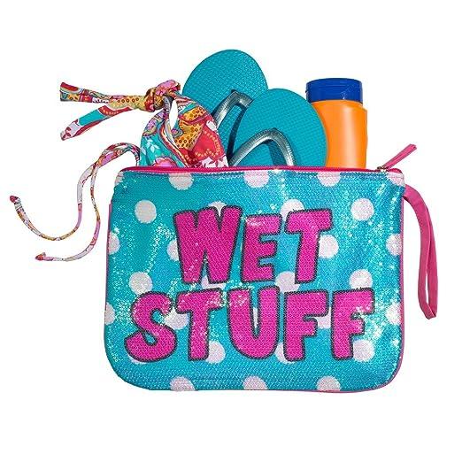 8d23f50674f0 3C4G Three Cheers for Girls Dots Sequin Wet Stuff Bag