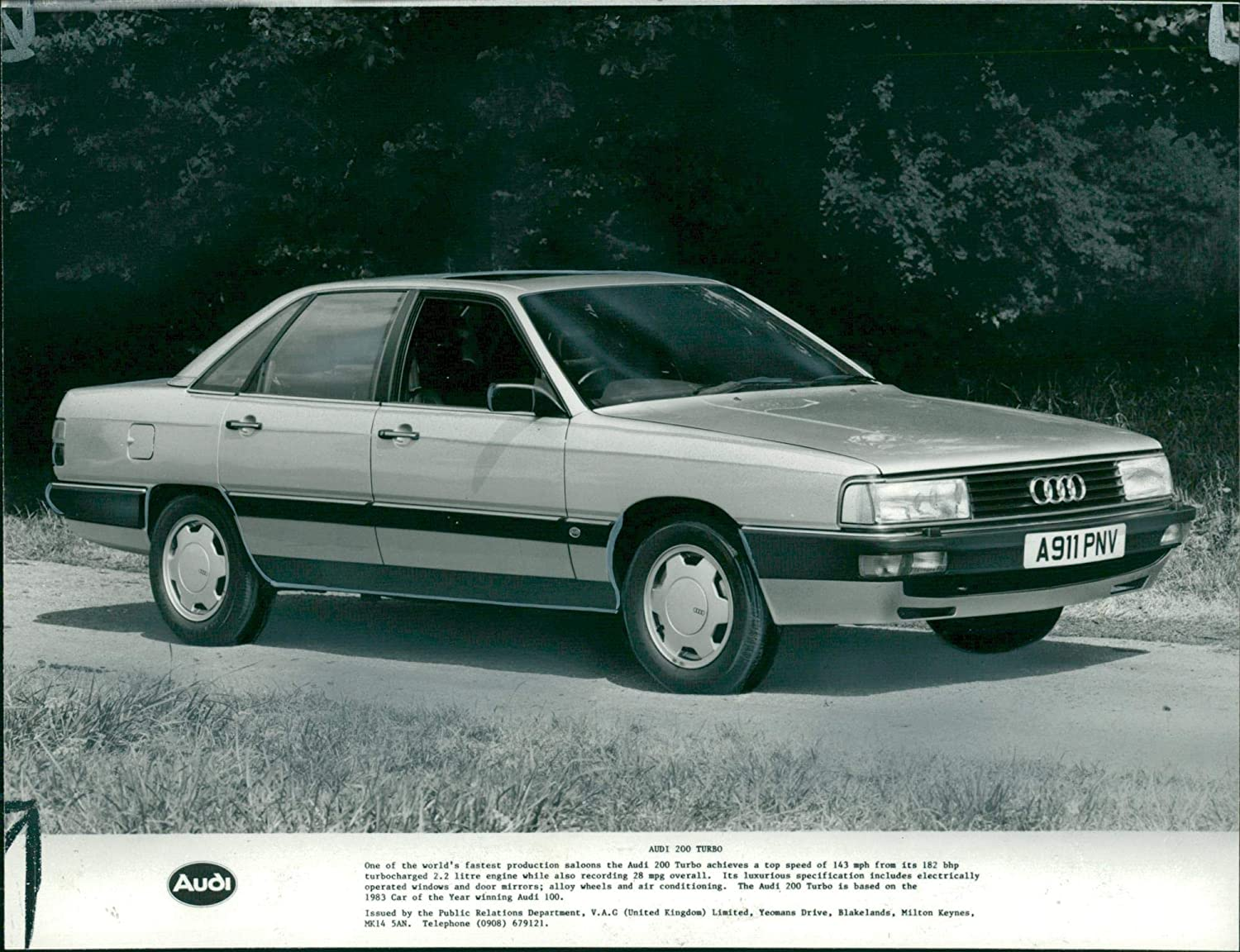 Amazon.com: Vintage photo of Audi 200 turbo handsome lines.: Entertainment Collectibles