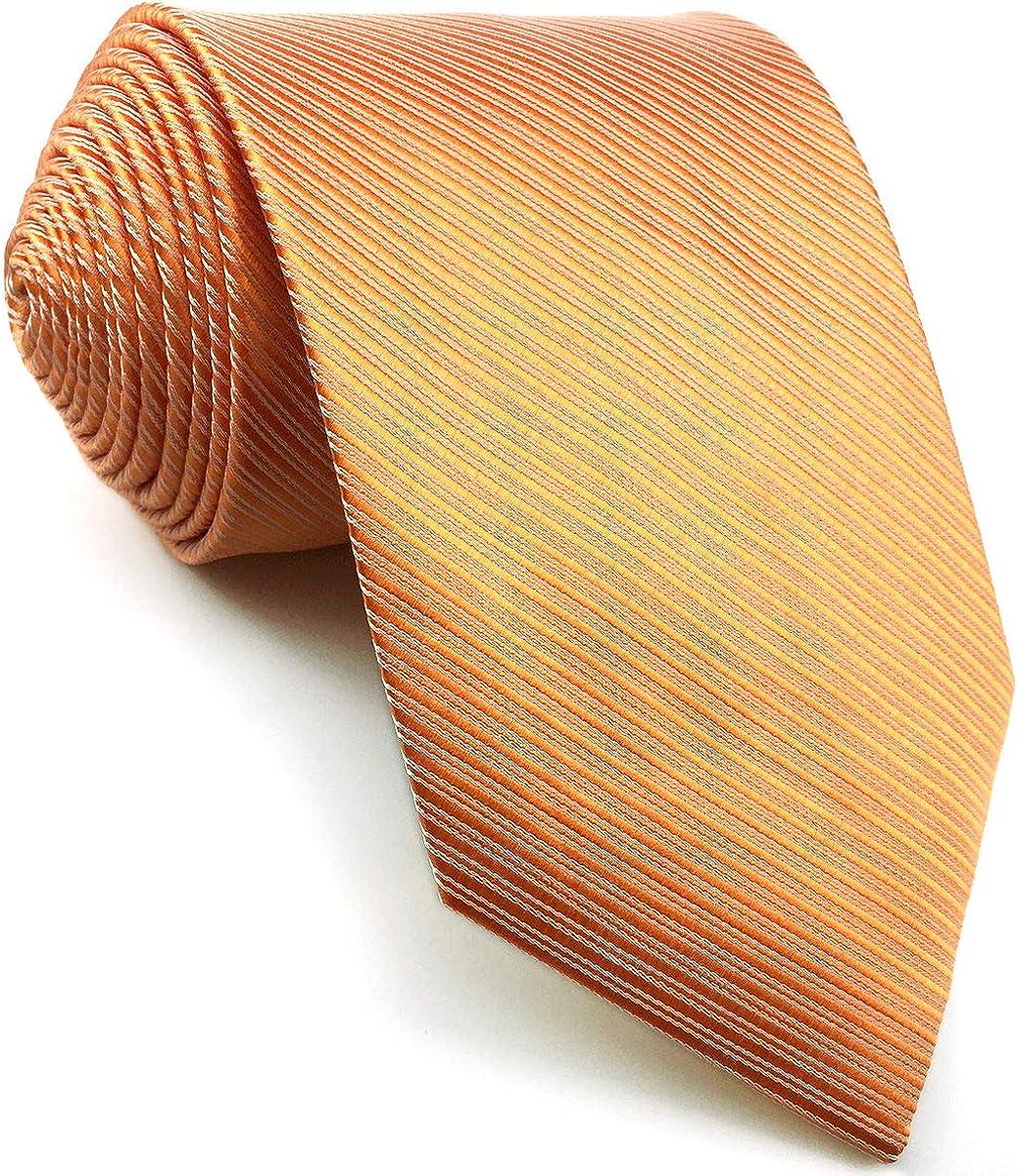 S/&W SHLAX/&WING Viola Cravatta da uomo Extra lungo Tinta Unita Set