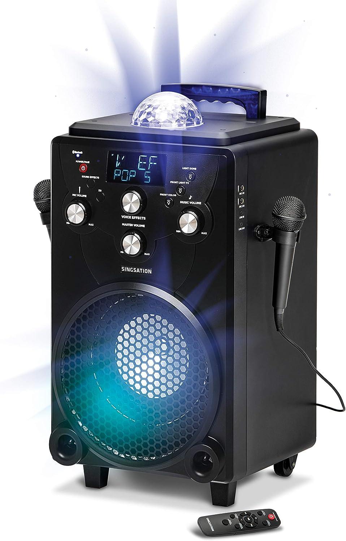 Professional Karaoke Machine for Adults and Kids - Singsation XL Portable Karaoke System - 60 Voice & 10 Sound Effects, 2 Karaoke Mics, 25 Room-Filling Light Show & Works w/Bluetooth