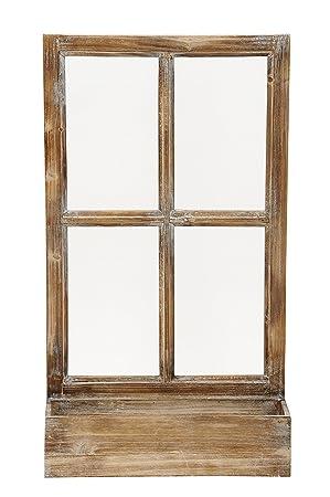 Deko Fenster Fensterrahmen Mit Pflanzkasten Holz Natur Shabby