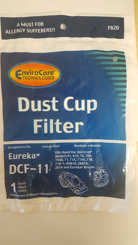 Eureka dcf11クイックUp Washable &再利用可能なダストカップフィルタEurekaモデルに: 61、61 A、70、70 A、70 AX , 71 , 71 A、71 AV、71b、71b-1、ag61 a、uk61 a、z61 a、Eureka Broom Compare to Eurekaパーツ# 39657   B01F5XSSP0