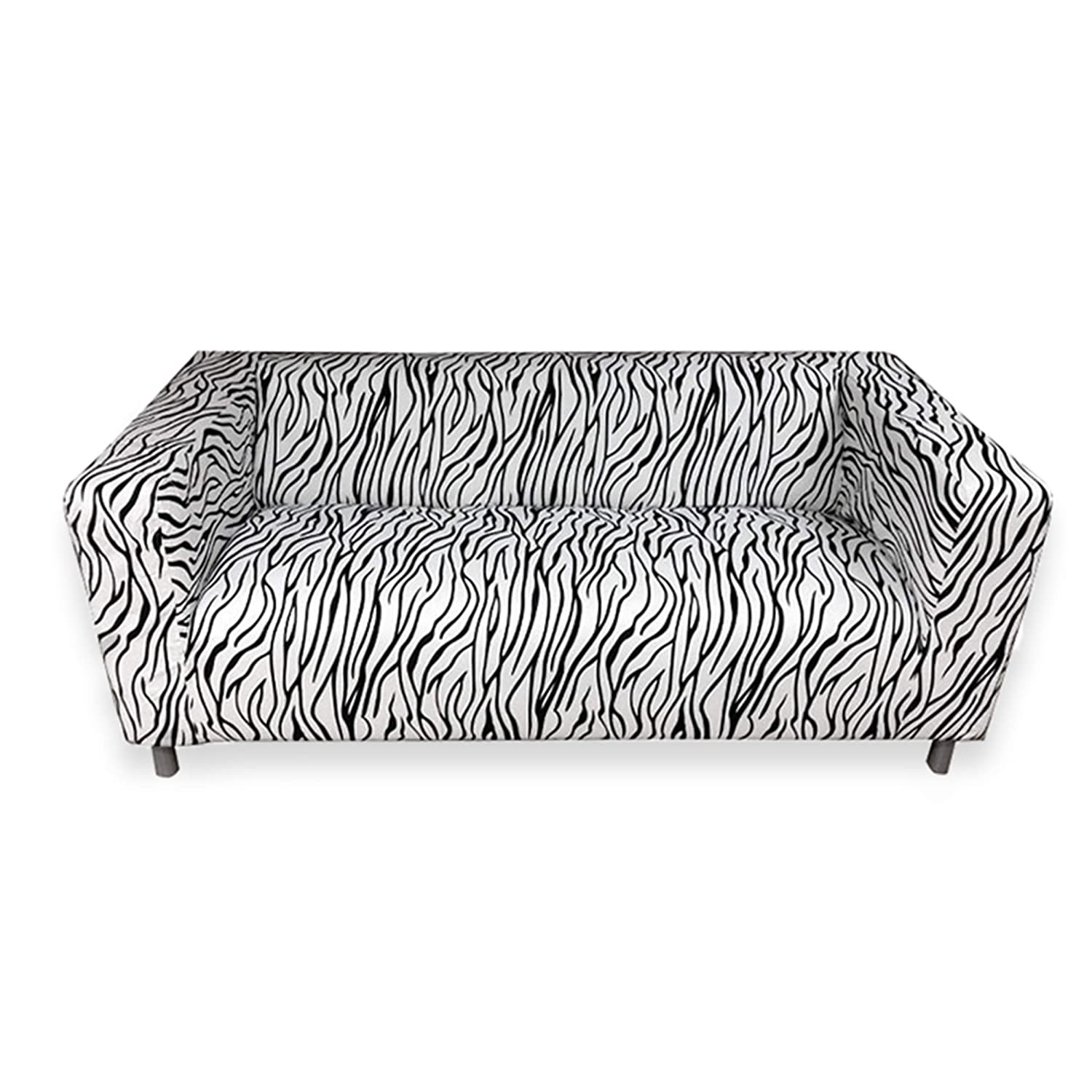 Superb Kao Mart Removable Sofa Slipcover Cover Fits Only For Ikea Klippan Sofa Zebra Animal Print Onthecornerstone Fun Painted Chair Ideas Images Onthecornerstoneorg
