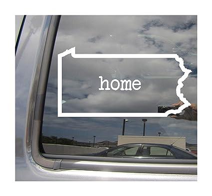 Pennsylvania State Home Outline - PA Philadelphia Harrisburg The Keystone  State USA America - Cars Trucks Moped Helmet Hard Hat Auto Automotive Craft