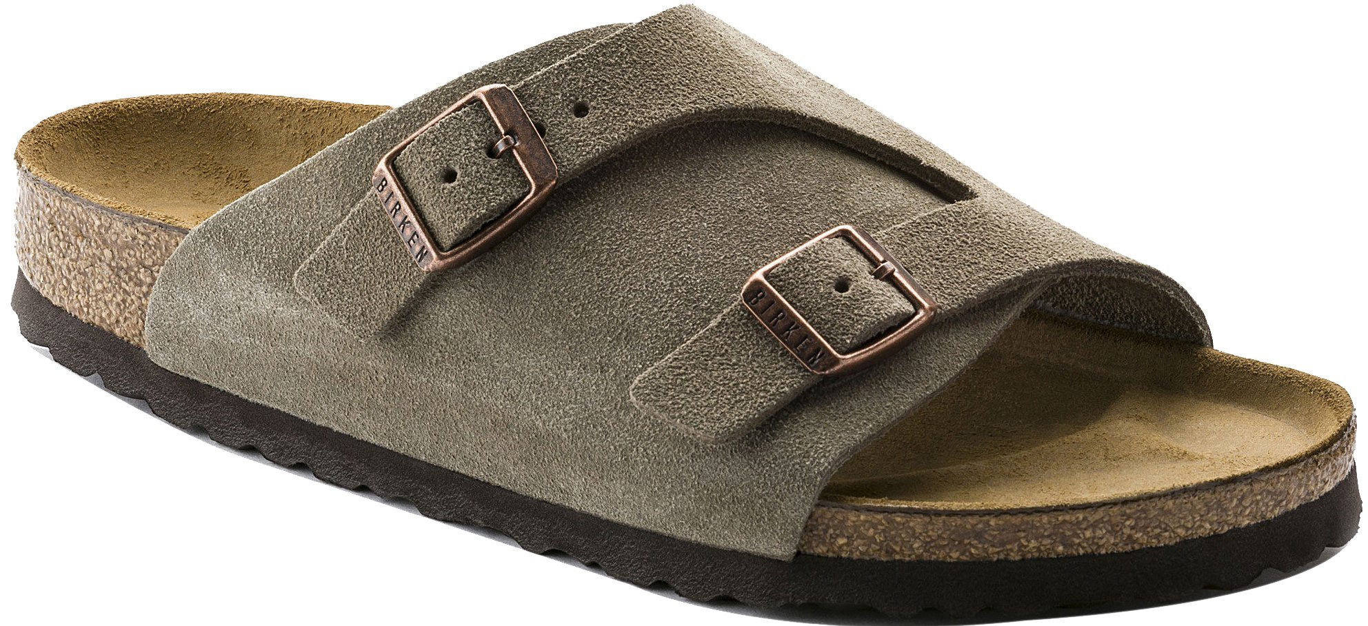 Birkenstock Women's Zurich Wool/Leather Sandal,Taupe,41 EU/10 N US