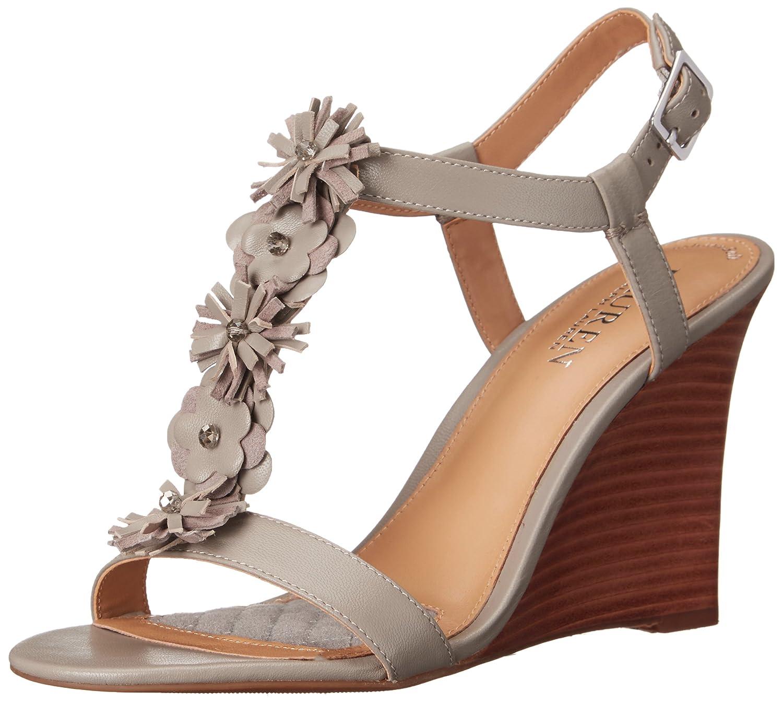 Lauren Ralph Lauren Women's Abia Wedge Sandal B014R1WAO6 8 B(M) US|Stone