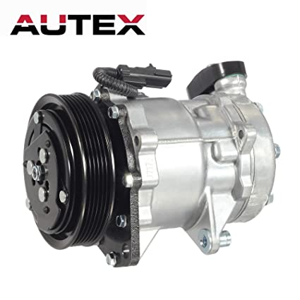 AUTEX AC Compressor & A/C Clutch CO 4854C TEM254491 C580R 55056335AA Replacement for 2002