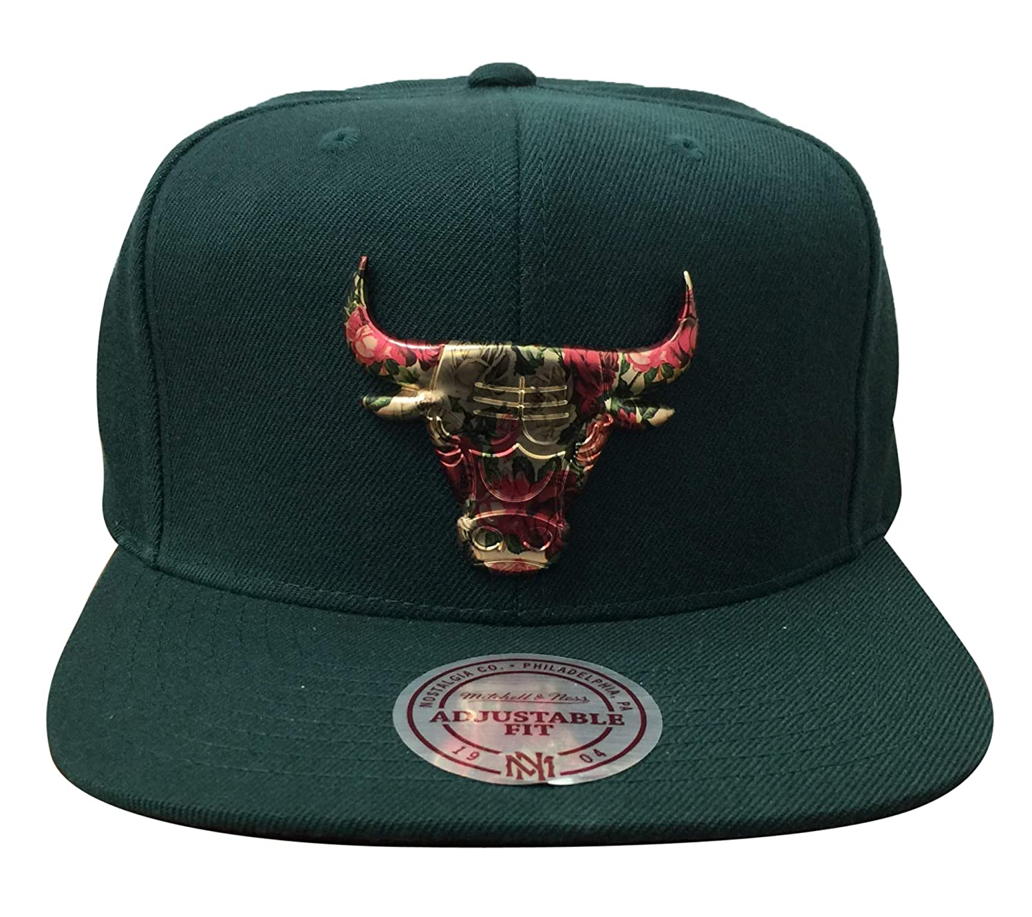 43228a57824 ... promo code for amazon mitchell ness chicago bulls floral broche snapback  osfa green clothing 34c66 70da5