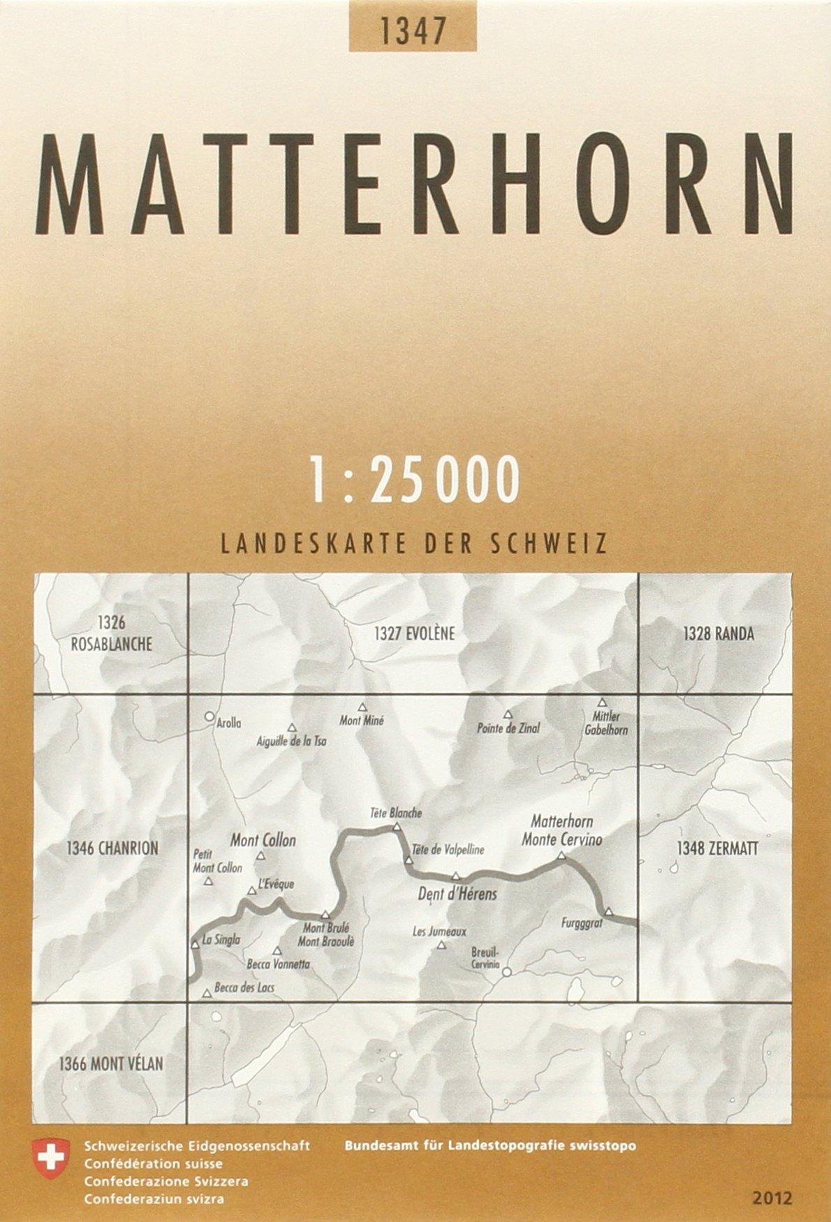Swisstopo 1 : 25 000 Matterhorn (Landeskarte Der Schweiz)