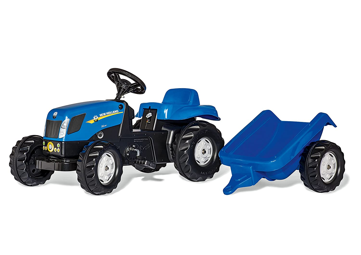 rolly toys rollyKid 013074 New Holland T 7040 con remolque