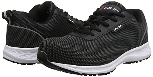 sale retailer e7141 a25ca LARNMERN Mens Steel Toe Safety Shoes,LM-30 Flyknit Breathable Lightweight  Reflective Work Shoes Slip Resistant  Amazon.ca  Shoes   Handbags