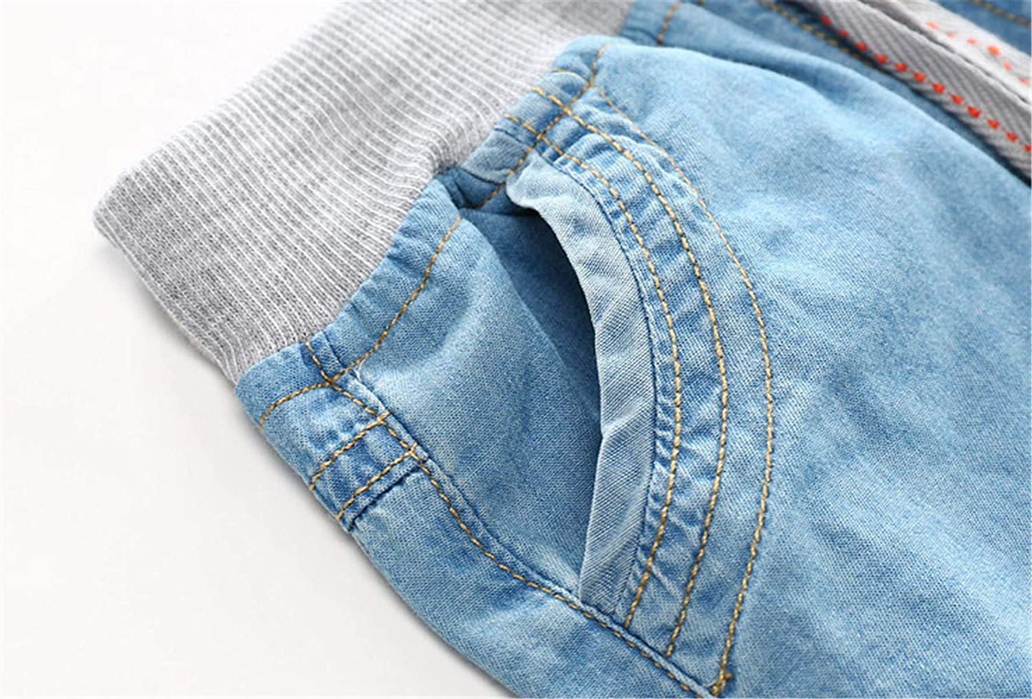 QZH.DUAO EMAOR Unisex Kids Baby Elastic Waist Ripped Holes Denim Pants Jeans /& Shorts 18Months 8Years
