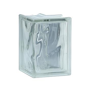 1 pieza BM bloque de vidrio nube SUPER white 13,2x19x8 cm ...