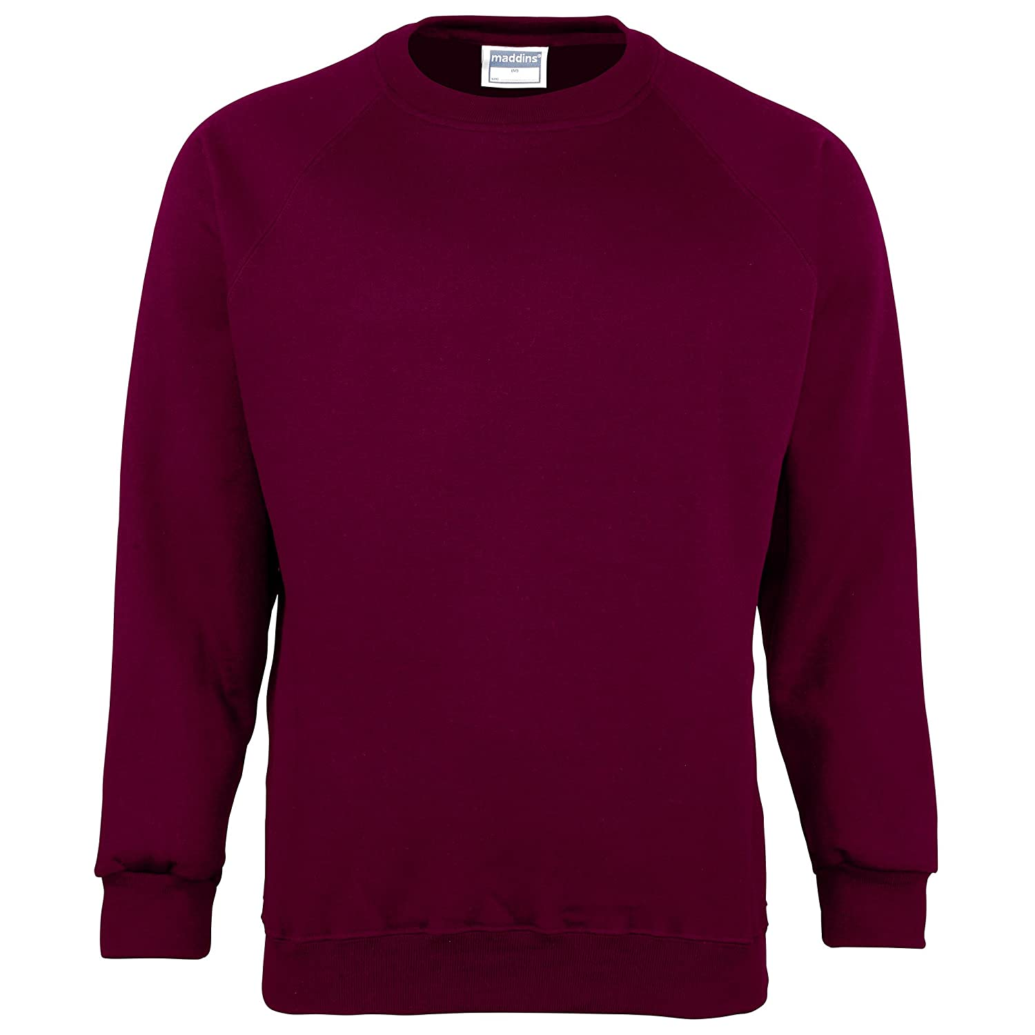 Amazon.com  Maddins Men s Plain Crew Neck Sweatshirt  Clothing 0bee74fc3be1