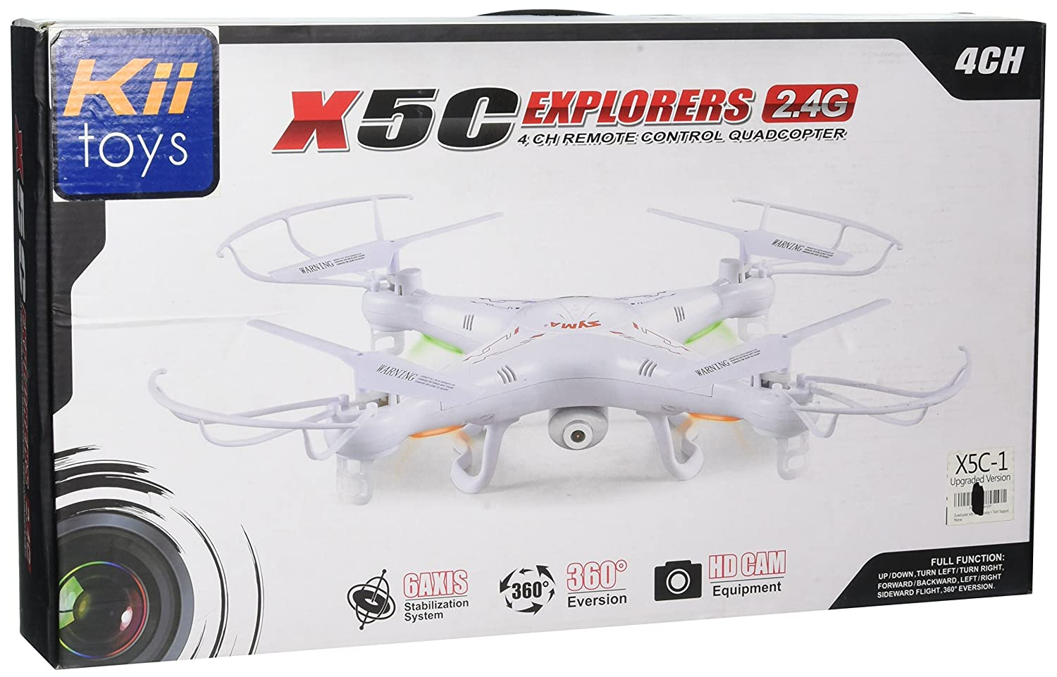 Amazon.com: Quadcopter with Camera Drone X5C RC Helicopter - New ...