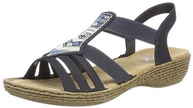 Femme 65807 Et Sacs Sandales Chaussures Fermé Bout Rieker IdYwqI