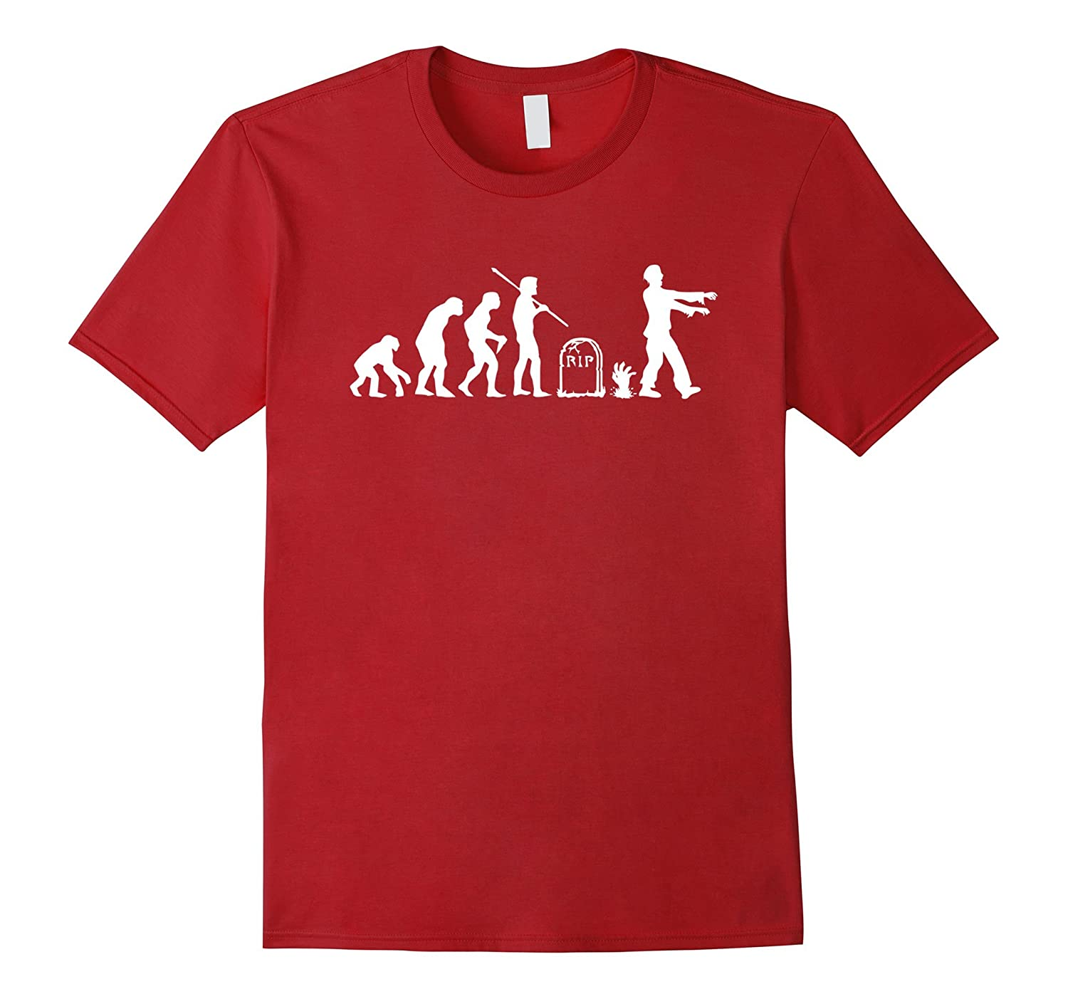 112be64b4f6b2 Zombie Evolution Funny Zombie T-Shirts-CL – Colamaga