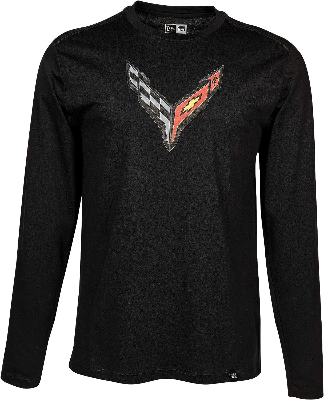 Black C8 Corvette Next Generation Carbon Flash Long Sleeve T-Shirt XXX-Large